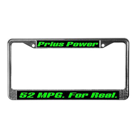 Prius Power 52 MPG License Plate Frame