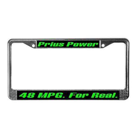 Prius Power 48 MPG License Plate Frame
