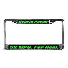 Hybrid Power 52 MPG License Plate Frame