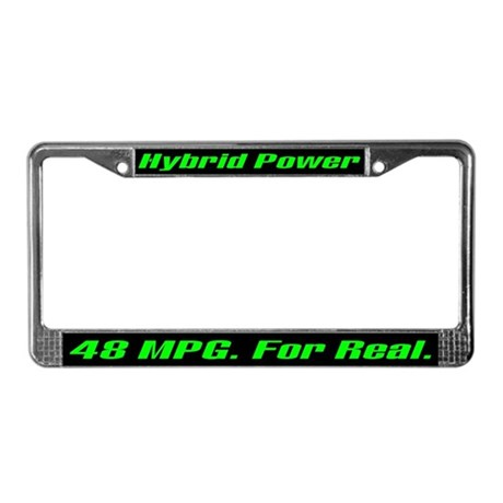 Hybrid Power 48 MPG License Plate Frame