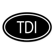 TDI Oval Stickers