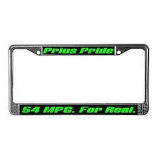 Prius Pride 54 MPG License Plate Frame