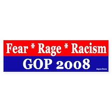 GOP Fear Rage Bumper Sticker - flag