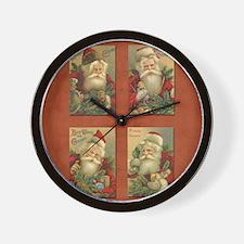 TLK024 Vintage Santas Wall Clock