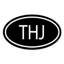 THJ Oval Decal