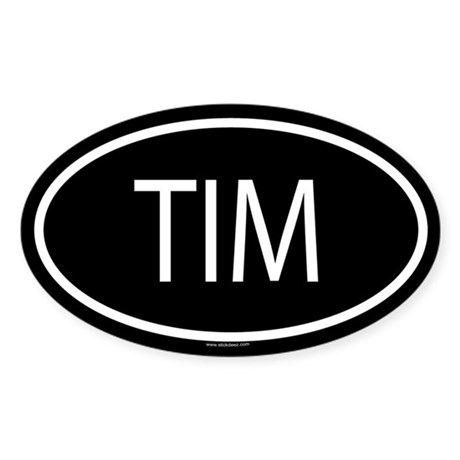 TIM Oval Sticker