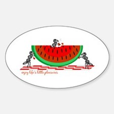 Life's Little Pleasures Oval Decal