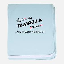 Cute Izabella baby blanket