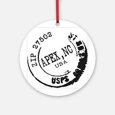 Apex North Carolina 27502 Zip Code Ornament
