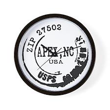Apex North Carolina 27502 Zip Code Wall Clock