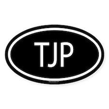TJP Oval Decal