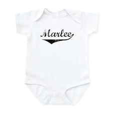 Marlee Vintage (Black) Infant Bodysuit