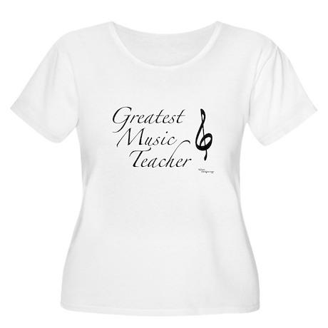 Greatest Music Teacher Women's Plus Size Scoop Nec