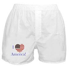 I Love America! Boxer Shorts