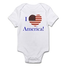 I Love America! Infant Bodysuit