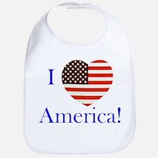 I Love America! Bib