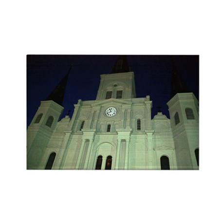 Saint Louis Cathedral Rectangle Magnet (100 pack)