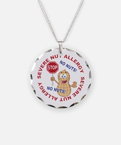 Severe Nut Allergy Necklace Circle Charm