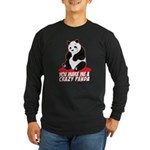 Crazy Panda Long Sleeve Dark T-Shirt