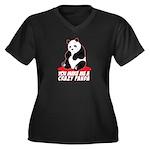 Crazy Panda Women's Plus Size V-Neck Dark T-Shirt