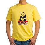 Crazy Panda Yellow T-Shirt