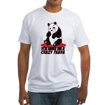 Crazy Panda Fitted T-Shirt