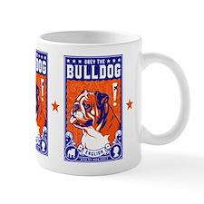 Obey the English Bulldog! Freedom Small Mug