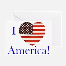 I Love America! Greeting Card