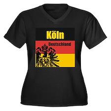 Köln Deutschland Women's Plus Size V-Neck Dark T-