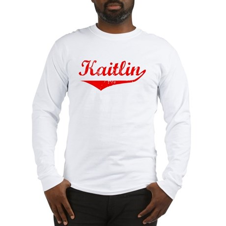 Kaitlin Vintage (Red) Long Sleeve T-Shirt