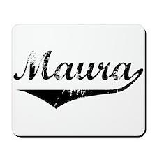Maura Vintage (Black) Mousepad