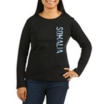 Somalia Stamp Women's Long Sleeve Dark T-Shirt