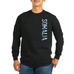 Somalia Stamp Long Sleeve Dark T-Shirt
