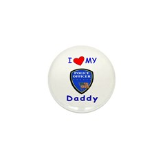 I Love Police Daddy Mini Button (100 pack)