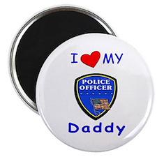 I Love Police Daddy Magnet