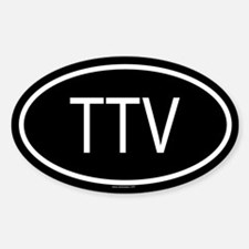 TTV Oval Decal
