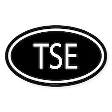 TSE Oval Decal