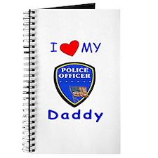 I Love Police Daddy Journal