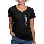 Soomaaliya Stamp Women's V-Neck Dark T-Shirt