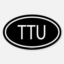 TTU Oval Decal