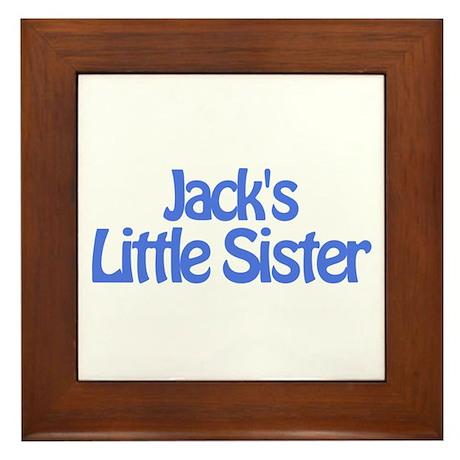 Jack's Little Sister Framed Tile