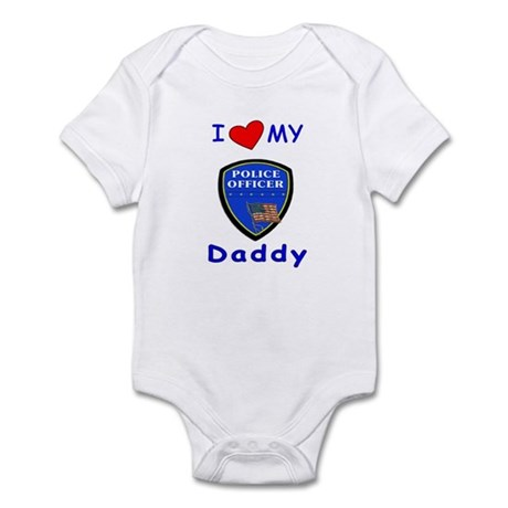 I Love Police Officer Daddy Infant Bodysuit