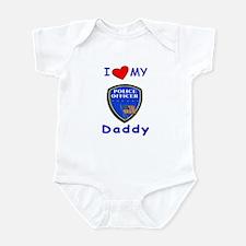 I Love Police Officer Daddy Onesie