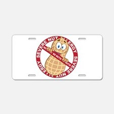 Severe Nut Allergy Aluminum License Plate