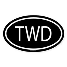 TWD Oval Decal