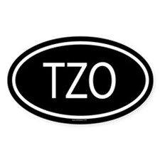 3-TZO Oval Decal