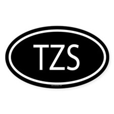 3-TZS Oval Decal