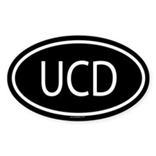 UCD Oval Decal