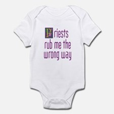 Priests Rub Me theWrong Way Infant Bodysuit