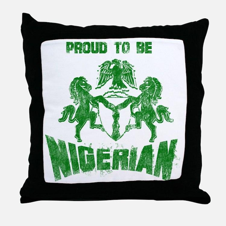 proudly nigerian Throw Pillow
